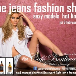 Blue jeans fashion show