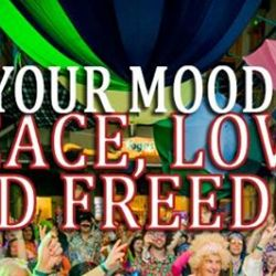 Set your mood for Peace, Love and Freedom