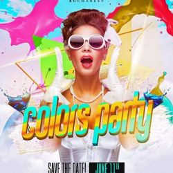 Colors Party// Princess Club// Save the date// June 11th// Special Offers// Lets make history toget