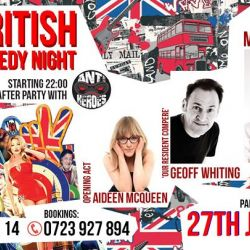 British Comedy Night/ Afterparty- TBA