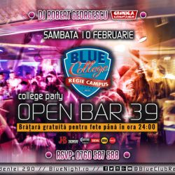 BLUE CLUB at OPEN BAR 39 lei  College Party by DJ Robert Georgescu